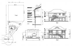 Bungalow Residence Project 2d CAD Drawing