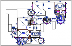 Bungalow Working plan layout details dwg files
