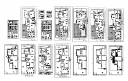 Bungalow building CAD structure detail plan 2d view dwg file