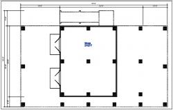 Bungalow column plan view detail dwg file