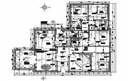 Bungalow design with detail dimension in dwg file