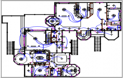 Bungalow electric plan layout and design plan layout view detail dwg file