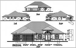 Bungalow elevation detail dwg files