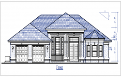 Bungalow elevation details dwg files