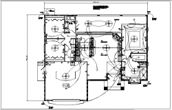 Bungalow layout and electric plan layout view detail dwg file