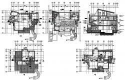 Bungalow plan CAD Drawing Download
