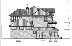 Bungalow plan details dwg files