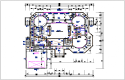 Bungalow plan view detail dwg file