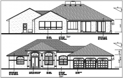 Bungalow planning detail dwg files