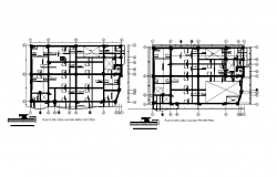 Bungalow working plan detail dwg file
