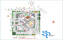 Bungalows Design plan with environmental detail