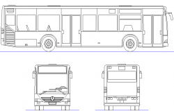 Bus Mercedes citaro detail dwg file