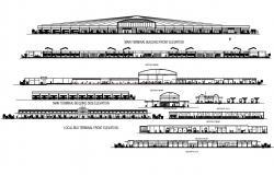 Bus Terminal Design CAD Plan