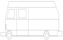 Bus block elevation view dwg file