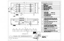 Busbar box plan detail dwg file