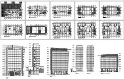 Business apartment dwg file