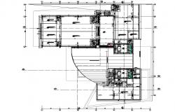 Business center plan detail dwg file