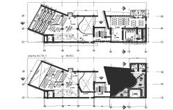 Business hub plan detail dwg file