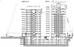 CAD 2d drawings section of building units dwg file