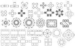 CAD Blocks Furniture Drawing