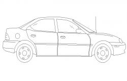 CAD Car Elevation Drawing Free Download