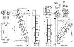 CAD Drawing Of Structure Column Bars With Joints Design AutoCAD File
