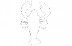 CAD block of Scorpion insect detail 2d view layout file