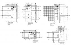 CAD constructive block of Housing structure plan detail layout file