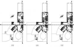 CAD details 2d drawings floor plan of residential apartment building dwg file t