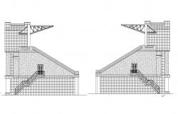 CAD drawing detail elevation of stadium dwg file