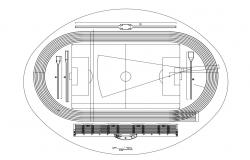CAD drawing details of sports playground 2d view plan dwg file
