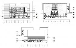 CAD drawings details of commercial hub section dwg file