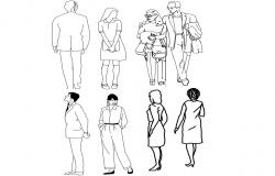 CAD drawings of people units blocks details in autocad file
