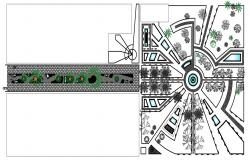 CAD layout drawings detailing of building area plan dwg file