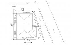 CAD site plan drawings of house 2d view dwg file