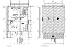 Cabin in wood plan layout file
