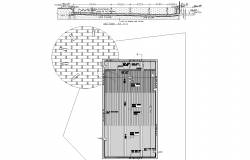 Cabin plan detail dwg file,