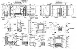 Cabinet Furniture For Bedroom DWG File