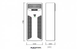 Cabinet air conditioning cad elevation view dwg file