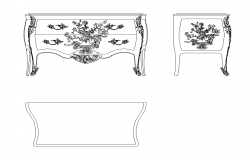 Cabinet detail elevation 2d view CAD block autocad file