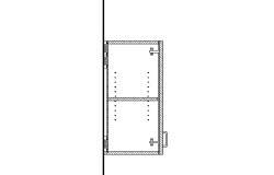 Cabinet top view details dwg file
