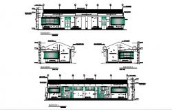 Cad 2d drawings elevation details of building layout AutoCAD
