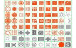 Cad blocks of pavings