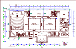Cadet college building plan design view with concrete detail dwg file