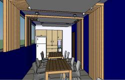 Cafeteria 3d interior and furniture design cad drawing details dwg file