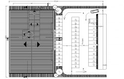 Caller plan and roof plan detail dwg file