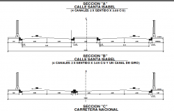 Canal sectional details dwg file