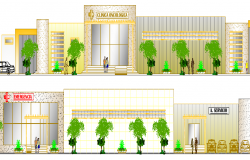 Cancer Specialty Clinic Center Elevation dwg file