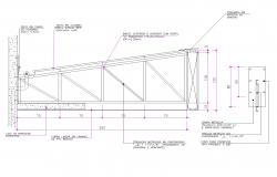 Canopy plan detail dwg file