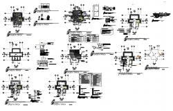 Canteen section, plan, construction and auto-cad details dwg file